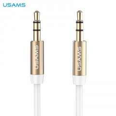 USAMS YP-01 Audio Kabel 3,5/3,5mm bílý (EU Blister)