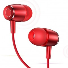USAMS USAMS EP-26 Metal In-Ear Stereo Headset 3,5mm Red