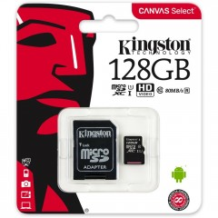 microSD microSDXC 128GB Kingston Class 10 w/a  (EU Blister)