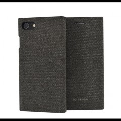 SoSeven Premium Gentleman Book Case Fabric Anthracite Pouzdro pro iPhone 6/6S/7/8 Plus