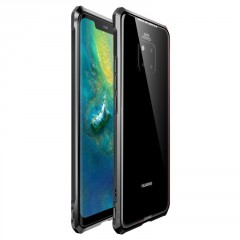 Luphie Luphie King of Snaps Magnetic Aluminium Bumper Case Glass Black pro Huawei Mate 20 Pro