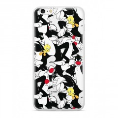 Warner Bros Sylvester and Tweety 004 Pouzdro černé pro Huawei P Smart 2019/ Honor 10 Lite
