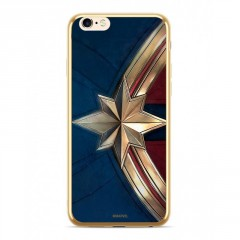 MARVEL Captain Marvel 001 Kryt zlatý pro iPhone 6/7/8 Plus