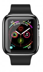 USAMS TPU Full Protective Pouzdro transparentní pro Apple Watch 40mm (EU Blister)