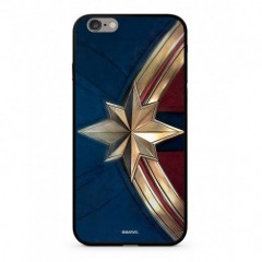 MARVEL Captain Marvel 022 Premium Glass Kryt modrý pro iPhone 6/6S Plus