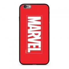 MARVEL MARVEL 005 Premium Glass Zadní Kryt pro iPhone 6/6S Plus Red