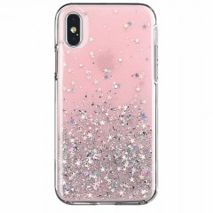 Wozinsky Star Glitter lesklé pouzdro s brokátem iPhone 8 Plus / iPhone 7 Plus růžové