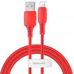 Baseus Colourful kabel USB / Lightning 2.4A 1.2m červený (CALDC-09)