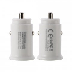 Remax Roki Series Car Charger RCC219 mini nabíječka do auta 2x USB 2.4A bílá