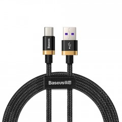 Baseus Purple Gold Red kabel v nylonovém opletení USB / USB-C SuperCharge 40W Quick Charge 3.0 QC 3.0 1M černý (CATZH-AV1)