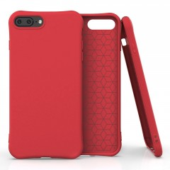 Apolis Soft Color Case elastické gelové pouzdro iPhone 8 Plus / iPhone 7 Plus červené
