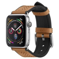 Spigen Kožený pásek Retro Fit Band Apple Watch 1/2/3/4/5 (42/44MM) hnědý
